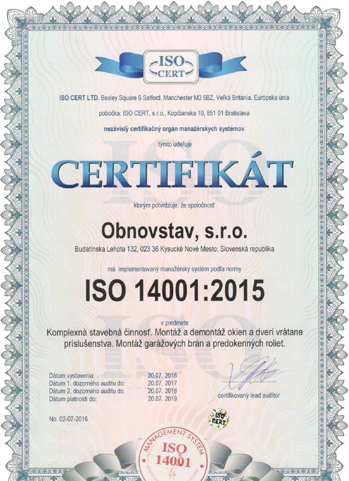 Certifikáty - OBNOVSTAV ce360555808